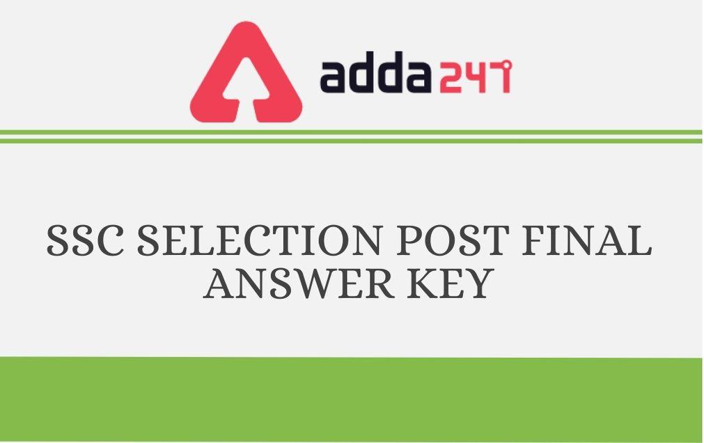 SSC Selection Posts VII Final Answer Key 2019 Out: Check Answer Key_30.1