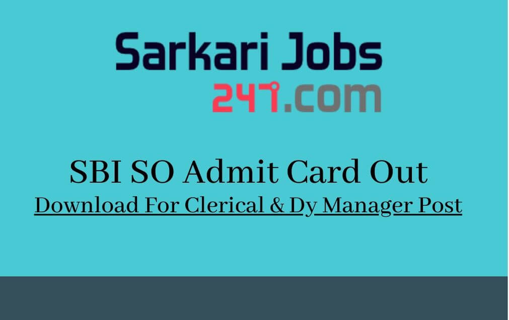sbi admit card for po post 2015