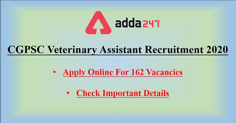 cgpsc-veterinary-istant-recruitment Job Application Form For Veterinary Istant on
