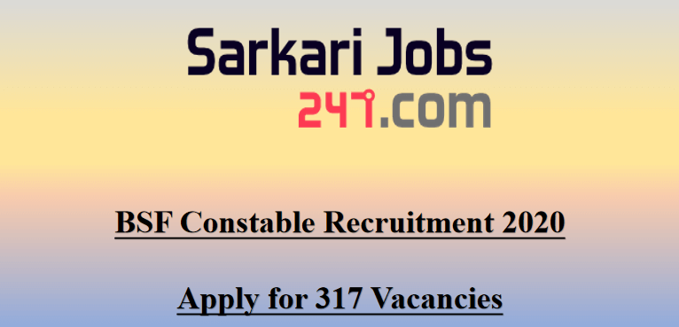 BSF-Constable-recruitment-2020