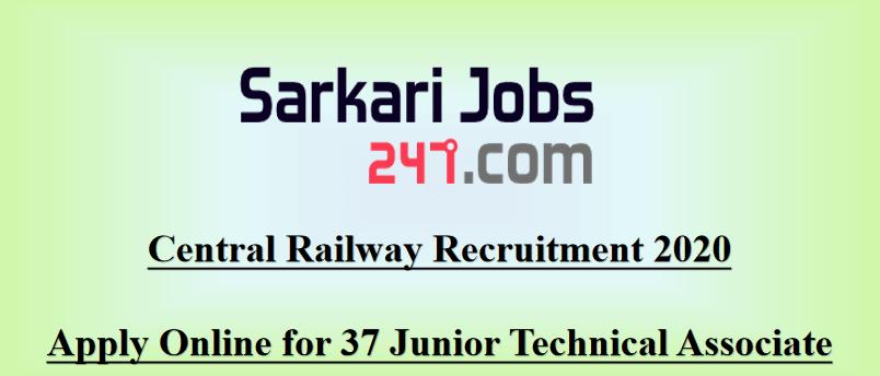 Central-railway-Junior-technical-associate-recruitment