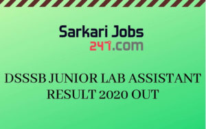 DSSS-JUNIOR-LAB-ASSISTANT-RESULT