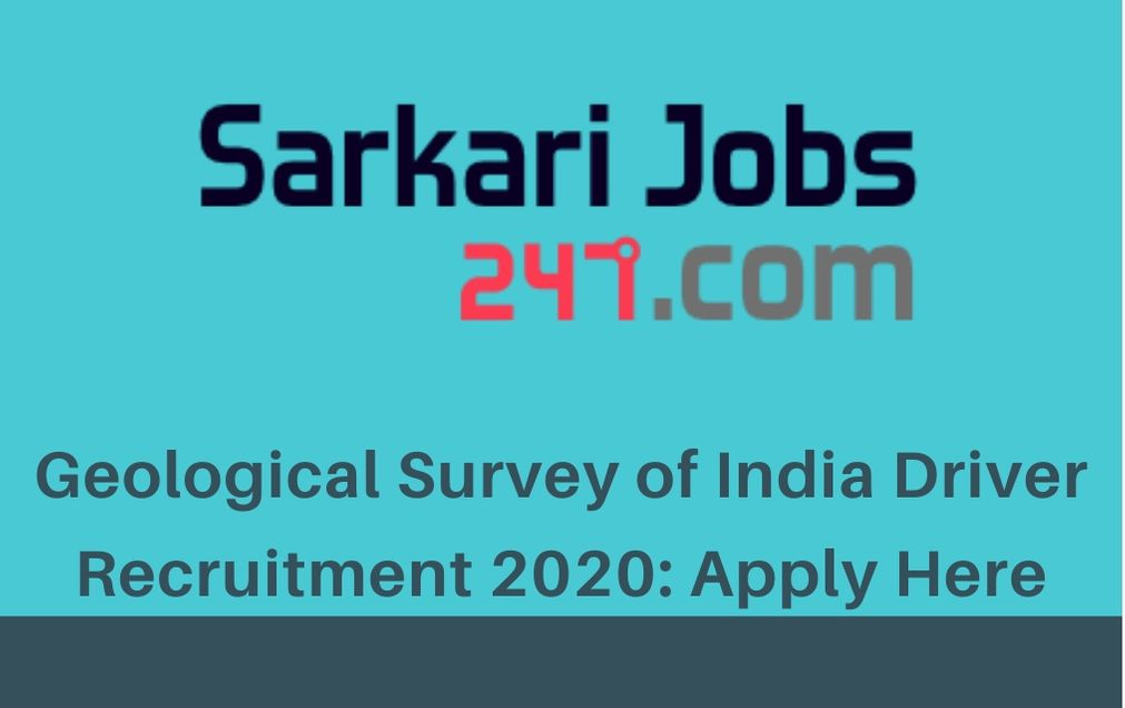 Geological-Survey of-India-Driver-recruitment