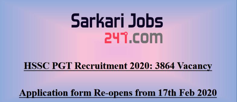 HSSC-PGT-Recruitment-2020