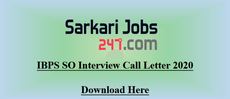 IBPS-SO-interview-call-letter-2020