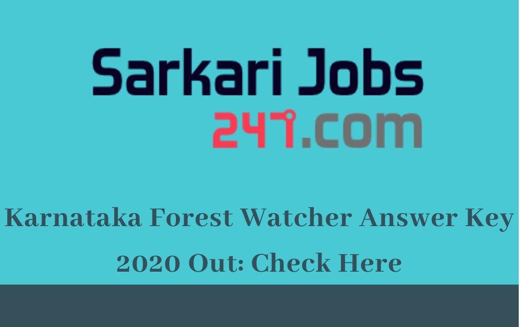 Karnataka-forest-watcher-answer-key
