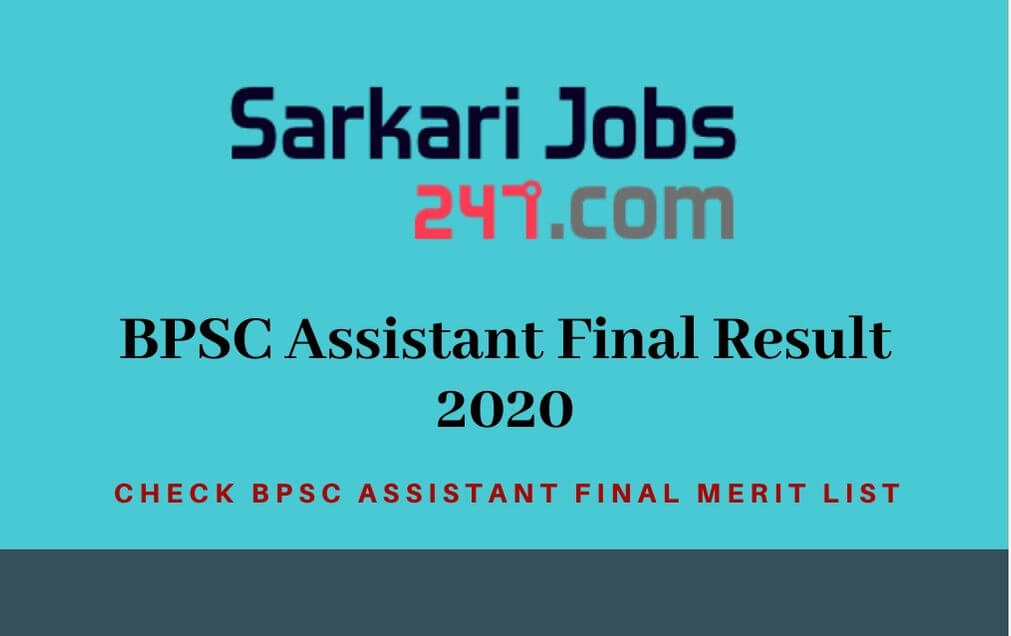 BPSC Assistant Final Result 2020 Out: Check BPSC Merit List_30.1