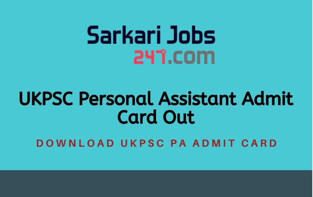 ukpsc-personal-assistant-admit-card