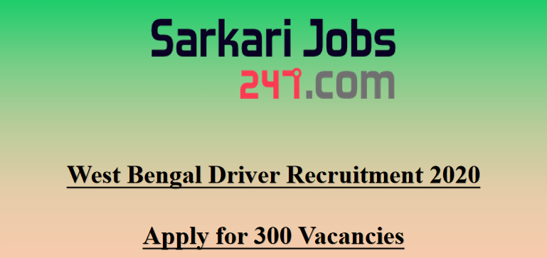 West-bengal-driver-recruitment-2020