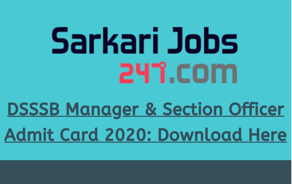 dsssb-manager-section-officer-admit-card