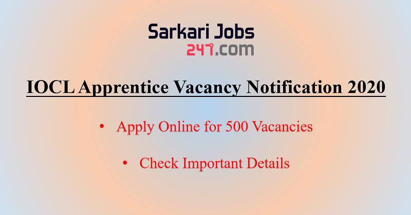 IOCL Apprentice Vacancy Notification 2020