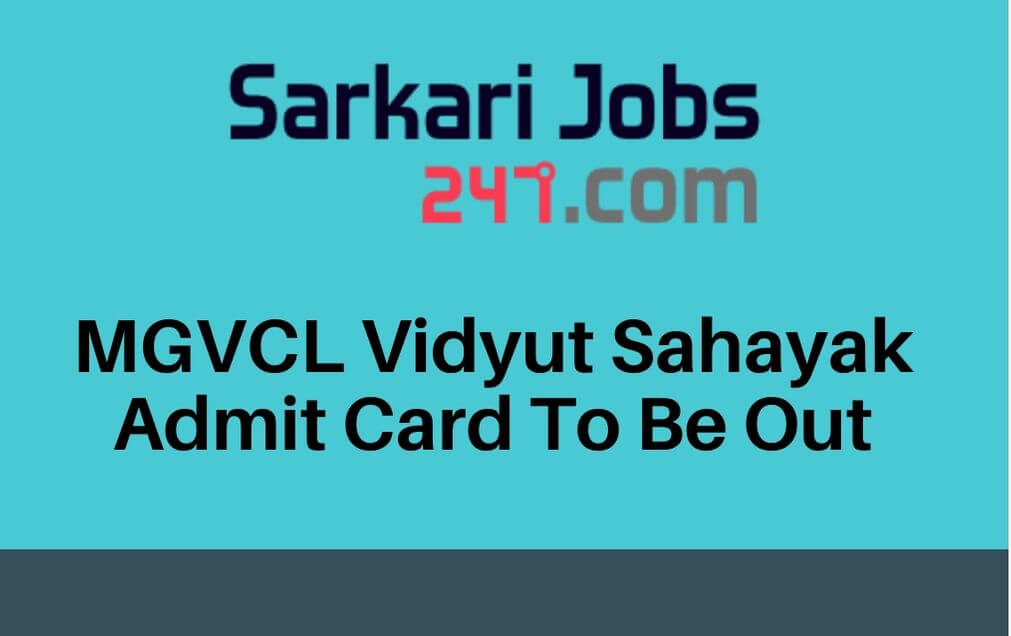 mgvcl-vidyut-sahayak-admit-card