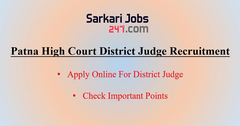 Patna High Court District Judge