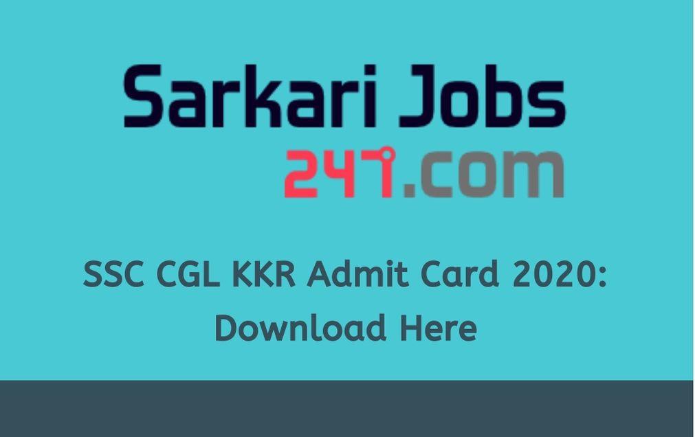 ssc-cgl-kkr-admit-card-2020