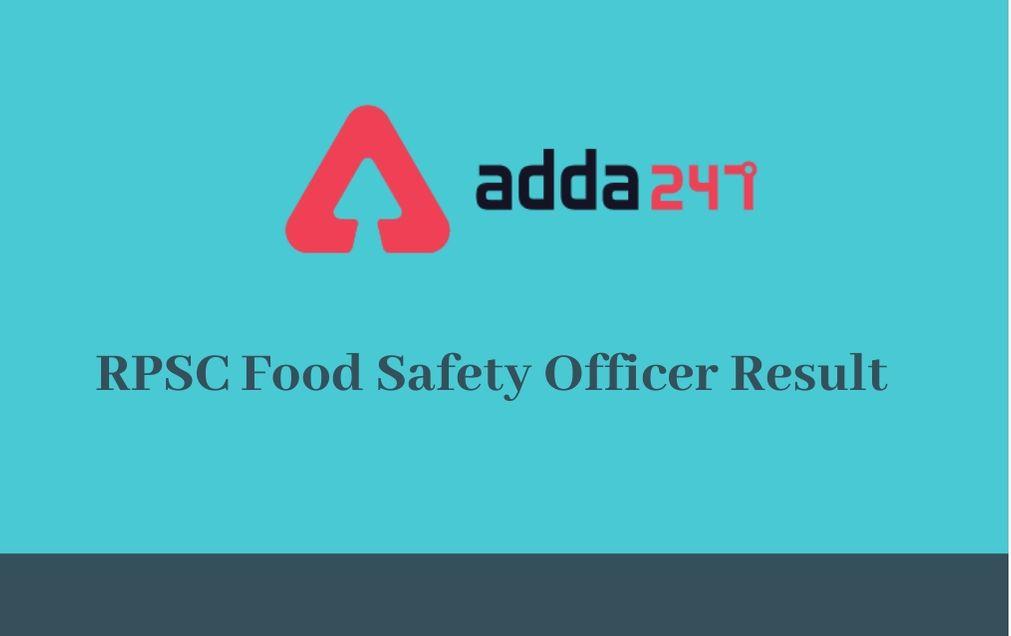 rpsc-food-safety-officer-result