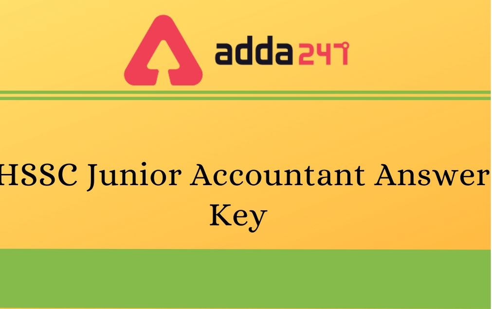 HSSC Junior Accountant Answer Key