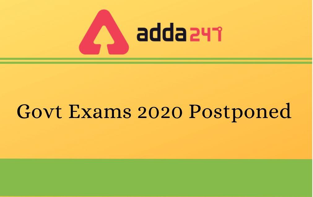 govt-exams-postponed