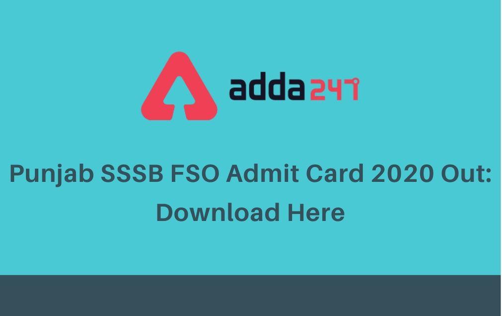 punjab-sssb-fso-admit-card