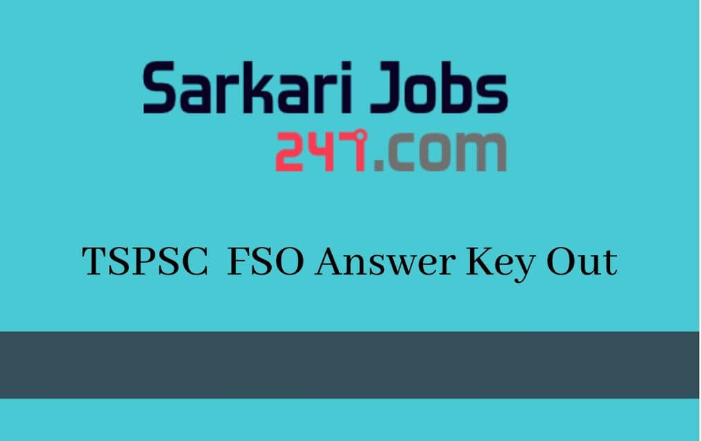 TSPSC Food Safety Officer Answer Key 2020 Out: Check Here