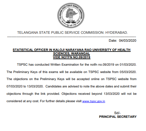 tspsc-statistical-officer-answer-key-notice