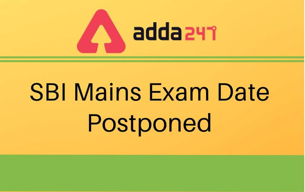 SBI-mains-exam-date