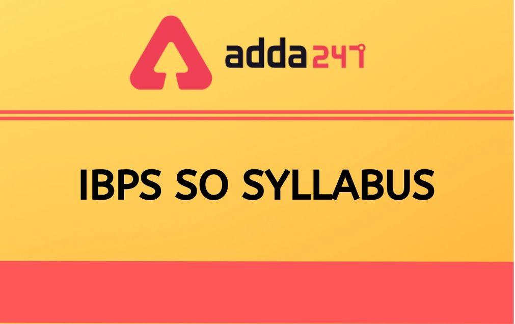 IBPS-SO-SYLLABUS