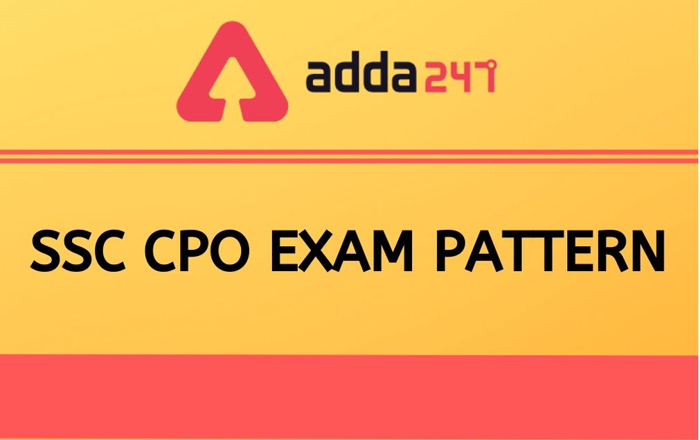 ssc cpo exam pattern
