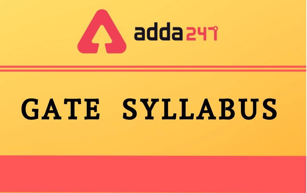 gate-syllabus-2021