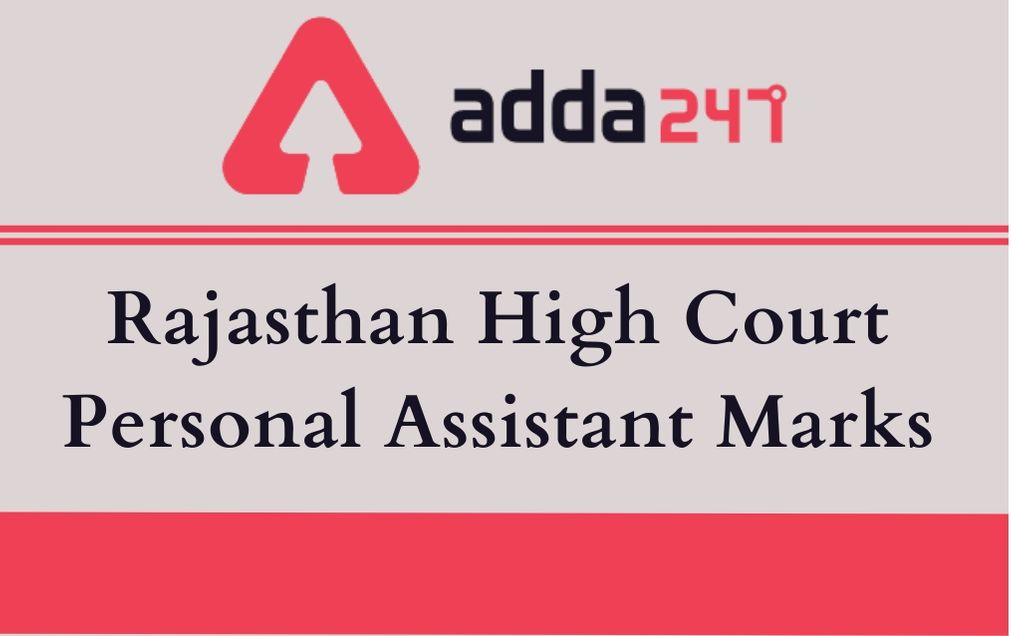 Rajasthan High Court Personal Assistant Marks