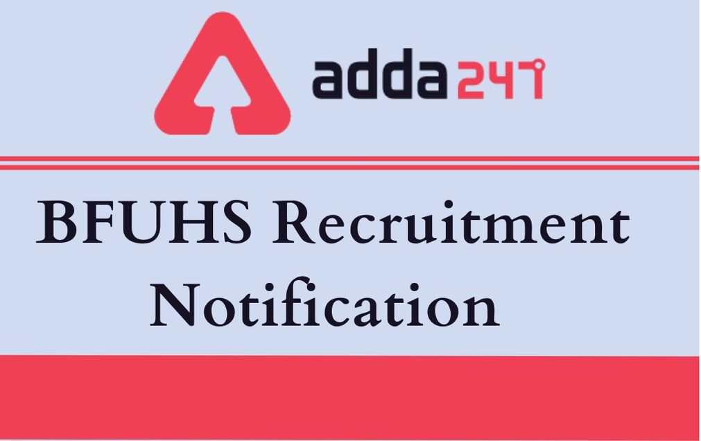 BFUHS Recruitment Notification