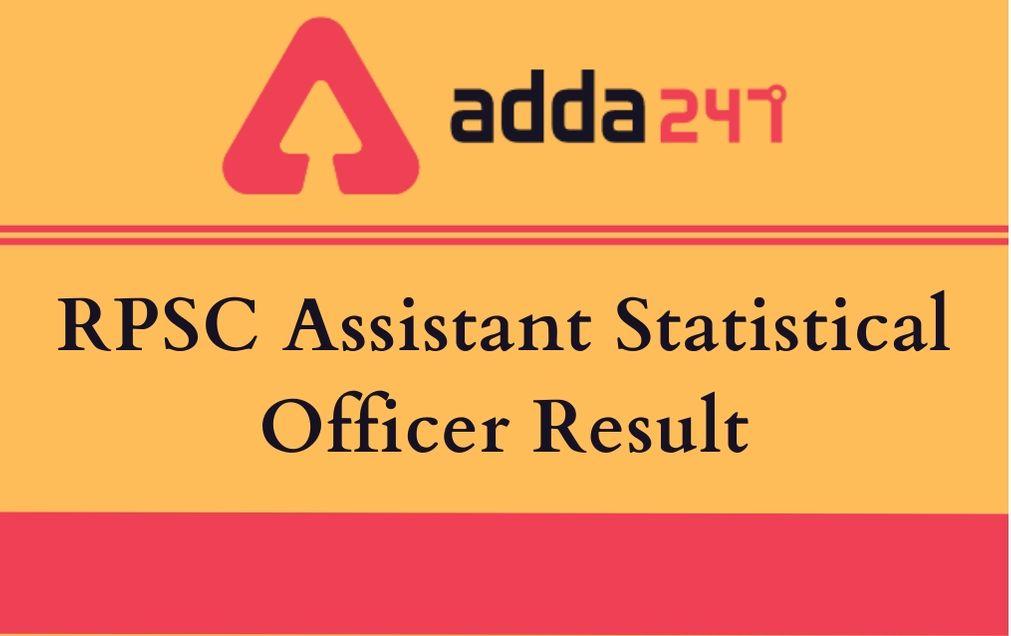 RPSC Assistant Statistical Officer Result