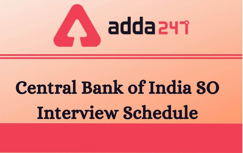 Central Bank of India SO Interview Date