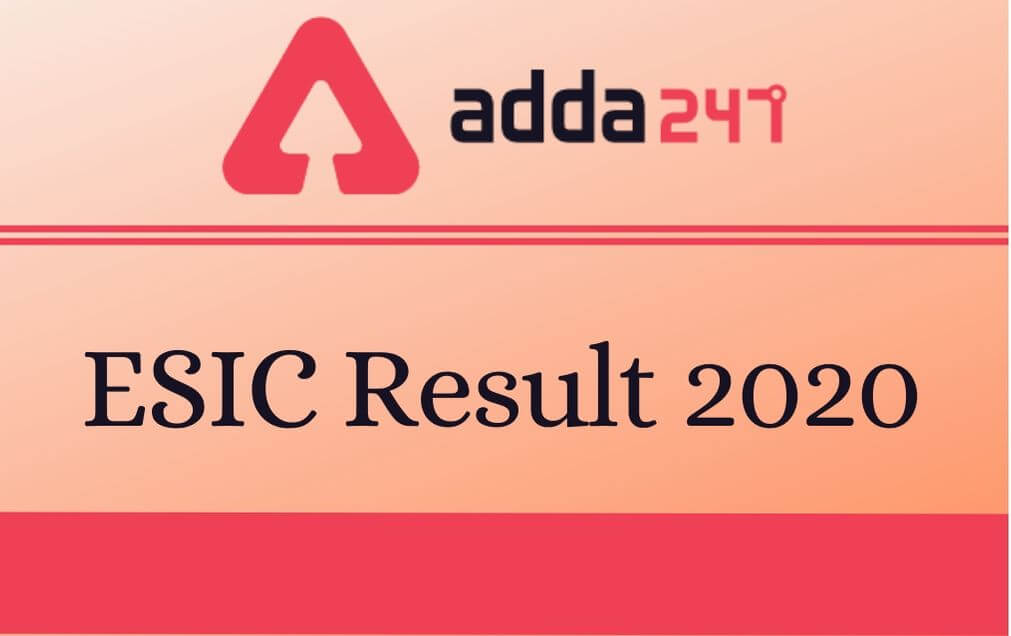 ESIC Residents and Tutor Result 2020 Out: Check Result PDF_30.1