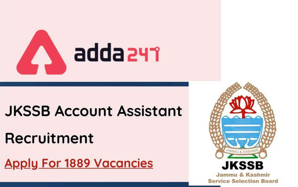 JKSSB Account Assistant Recruitment