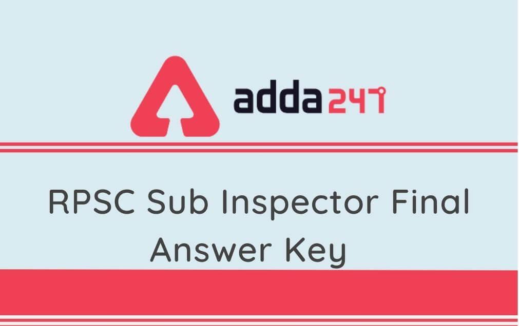 RPSC Sub Inspector final answer key (1)