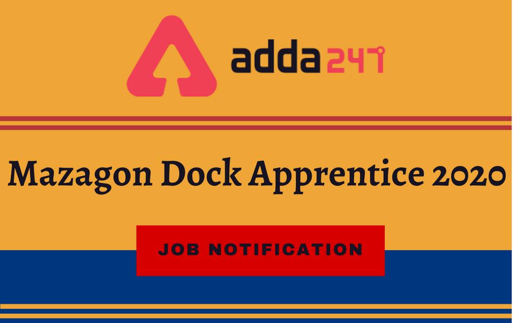 Mazagon Dock Apprentice Recruitment 2021: Apply Online For 410Graduate Apprentices_30.1