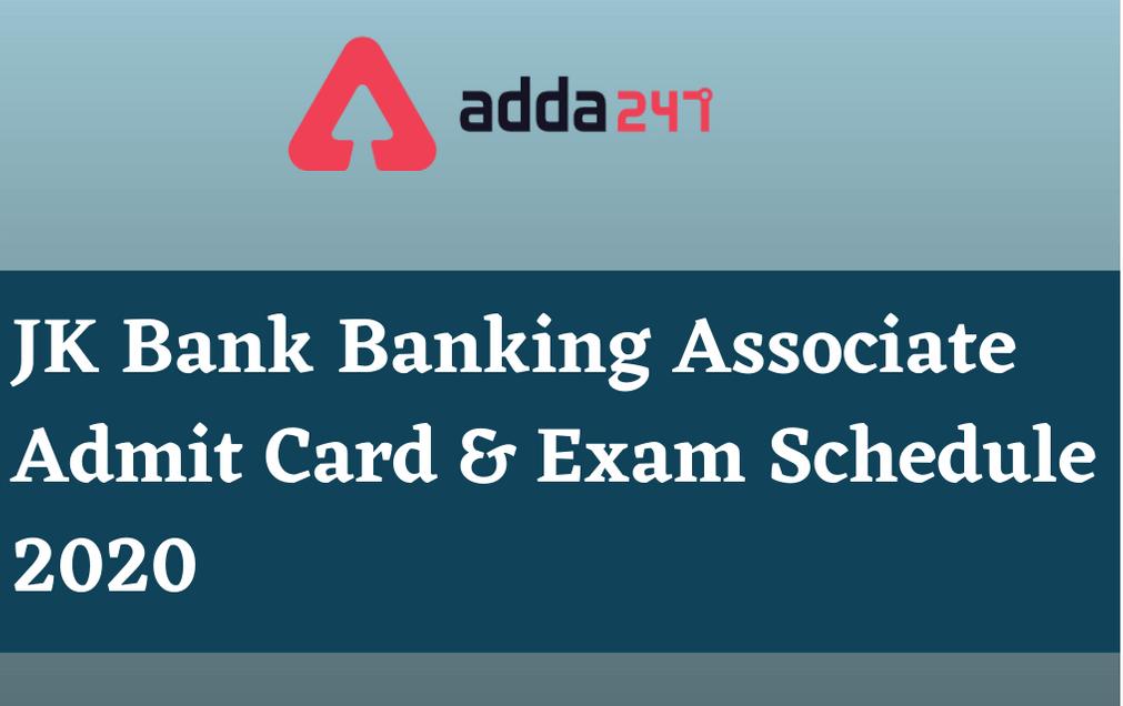 JK Banking Associate Admit Card 2020: Check Online Clerical Exam Dates_30.1