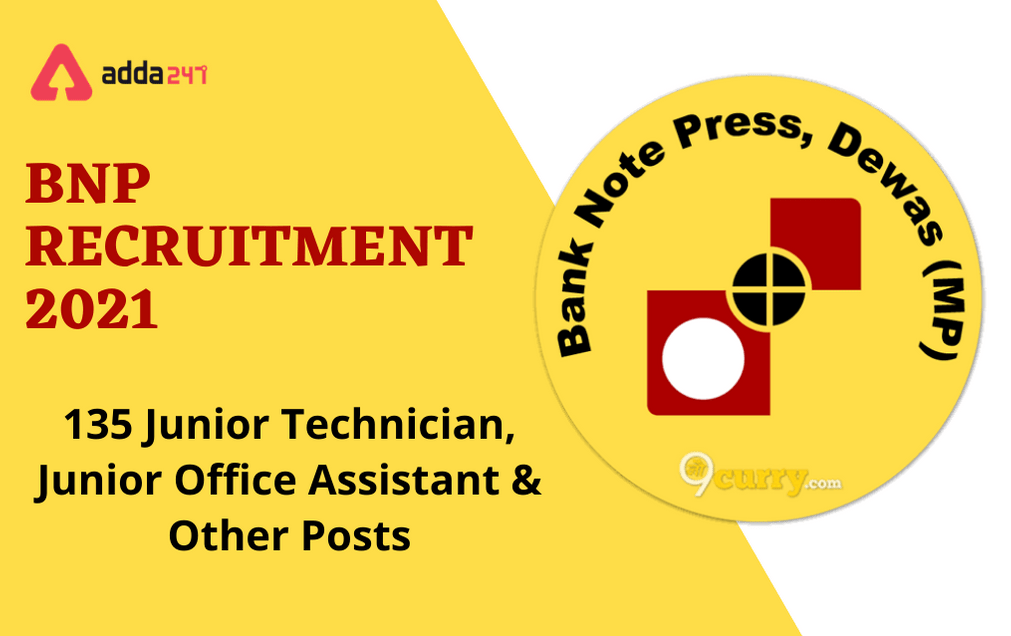 BNP Recruitment 2021: Apply Online Extended For 135 Various Posts_30.1