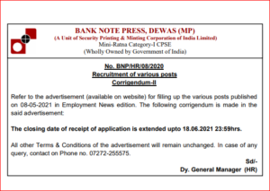 BNP Recruitment 2021: Apply Online Extended For 135 Various Posts_40.1