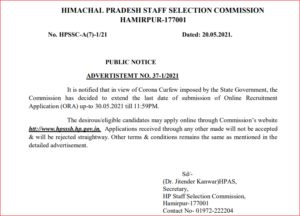 HPSSC Recruitment 2021: Apply Online Extended Again For 379 Various Vacancies_40.1