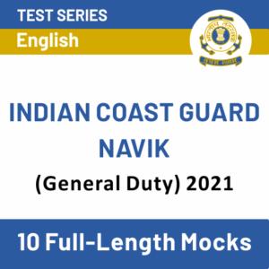 Indian Coast Guard Syllabus 2021 For GD Navik, DB Navik and Yantrik_40.1