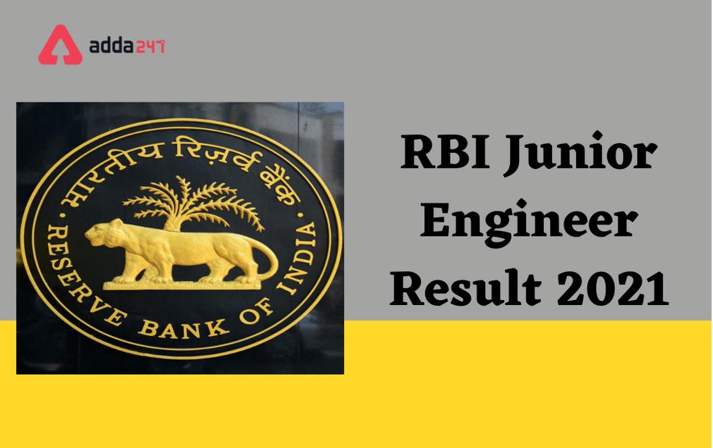 RBI JE Result 2021 Out: Download Junior Engineer Result PDF_30.1