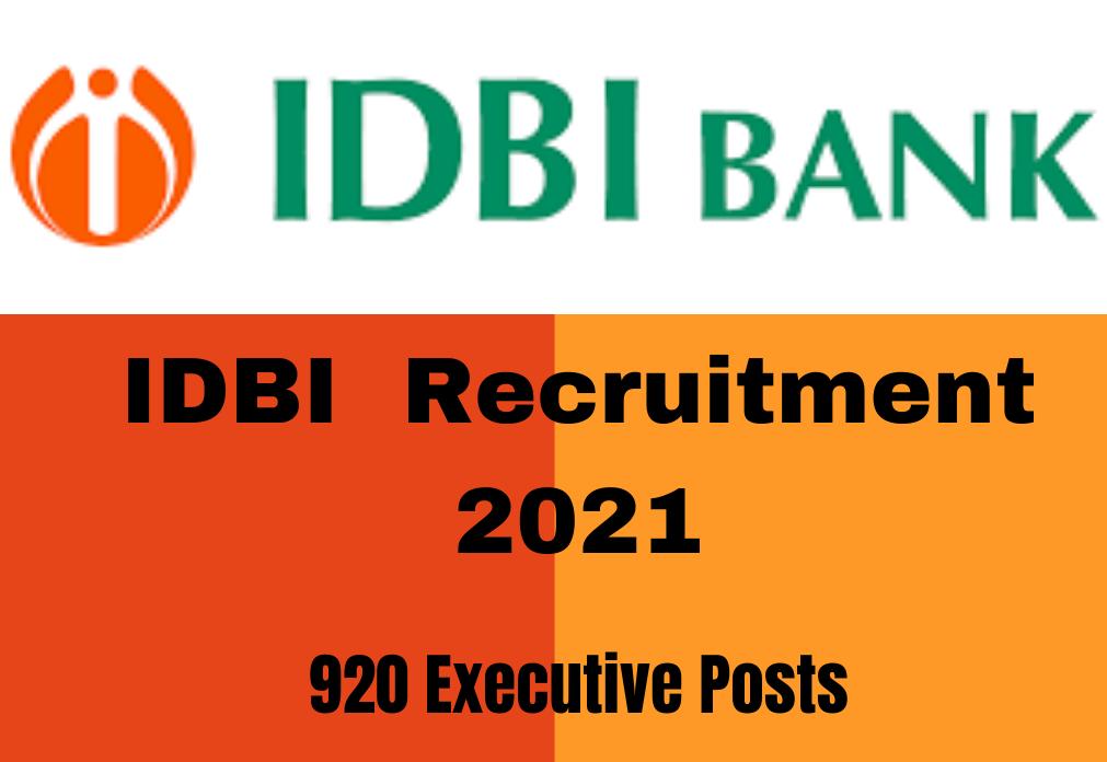 IDBI Executive Recruitment 2021: 920 vacancy Notification. Apply online_40.1