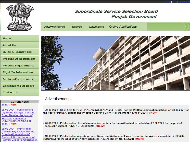 SSSB Punjab Patwari Exam Result 2021 Out: Link To Download Result_50.1