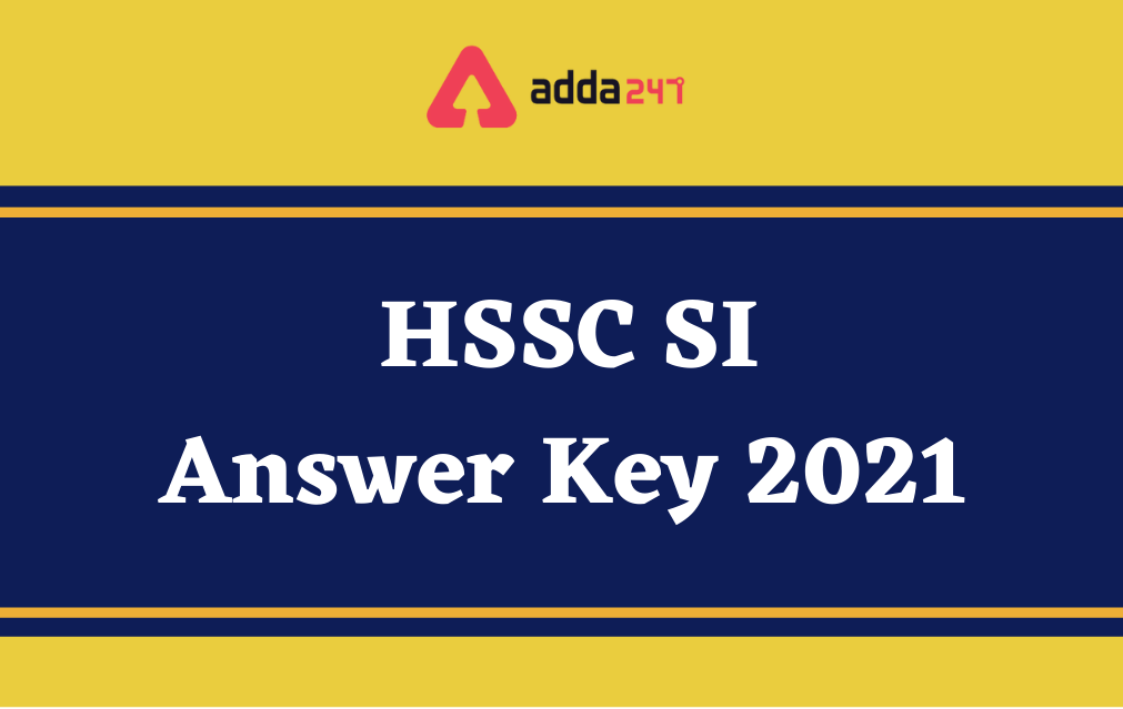 HSSC SI Answer Key 2021 Out For Male Candidates_40.1