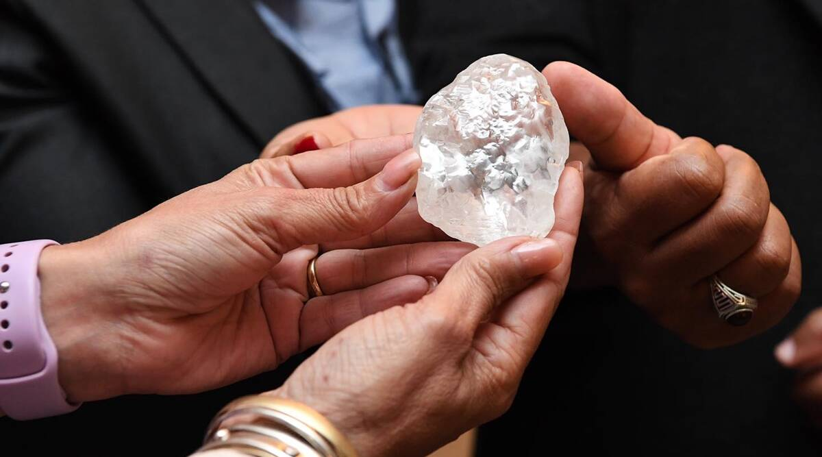 World's Third-Largest Diamond Unearthed in Botswana  ബോട്സ്വാനയിൽ കണ്ടെത്തിയ ലോകത്തിലെ മൂന്നാമത്തെ ഏറ്റവും വലിയ വജ്രം_40.1