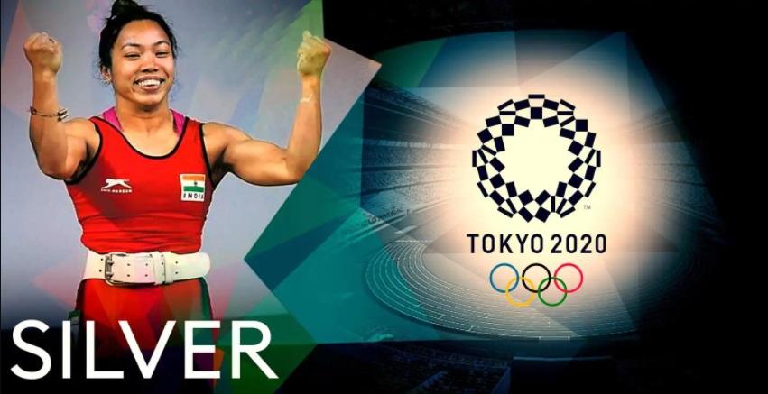 Tokyo 2020: Mirabai Chanu wins Silver in weightlifting  ടോക്കിയോ 2020: ഭാരോദ്വഹനത്തിൽ മിറബായ് ചാനു വെള്ളി നേടി_40.1