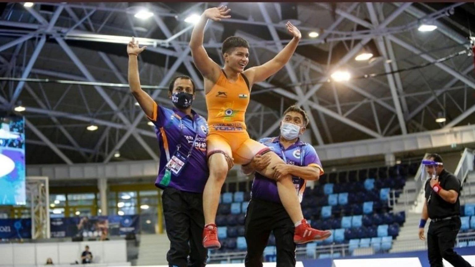 Priya Malik wins Gold at World Cadet Wrestling Championship| ലോക കേഡറ്റ് റെസ്ലിംഗ് ചാമ്പ്യൻഷിപ്പിൽ പ്രിയ മാലിക് സ്വർണം നേടി_40.1