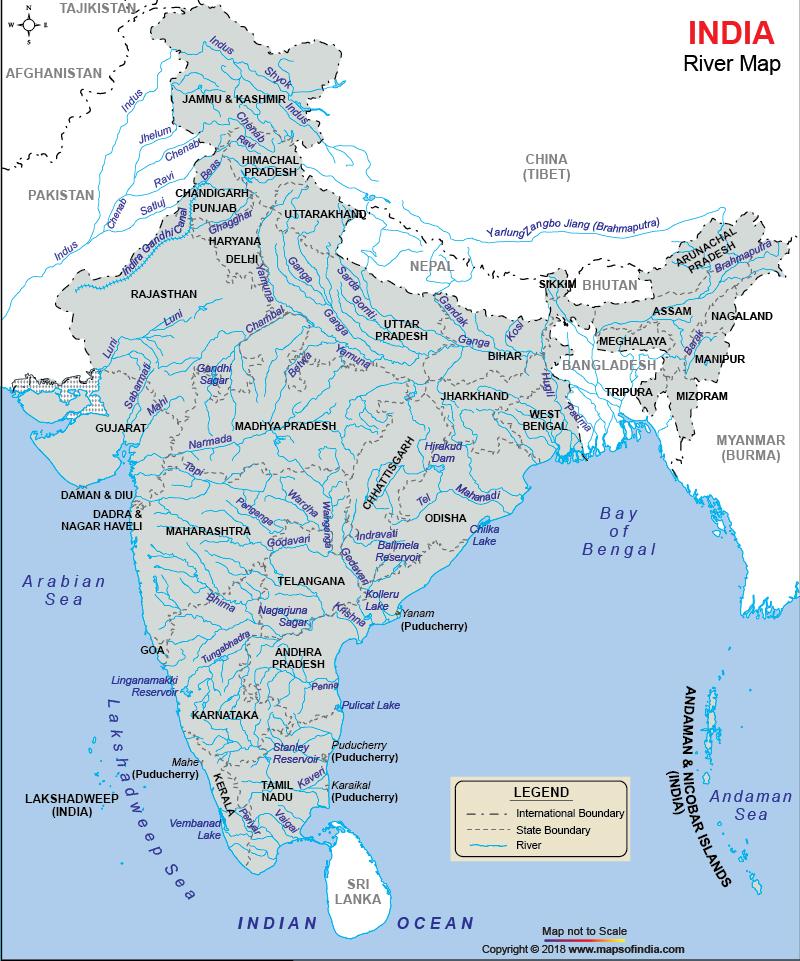 Rivers and Tributaries of India with Map|ഭൂപടത്തോടുകൂടിയ ഇന്ത്യയിലെ നദികളും പോഷകനദികളും_120.1