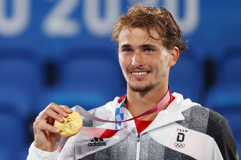 Alexander Zverev wins gold in men's singles tennis at Tokyo Olympics 2020| ടോക്യോ ഒളിമ്പിക്സ് 2020 ലെ പുരുഷ സിംഗിൾസ് ടെന്നീസിൽ അലക്സാണ്ടർ സ്വെരെവ് സ്വർണം നേടി_40.1